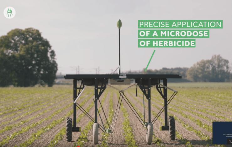 Robôs darão prejuízo para as empresas de herbicidas