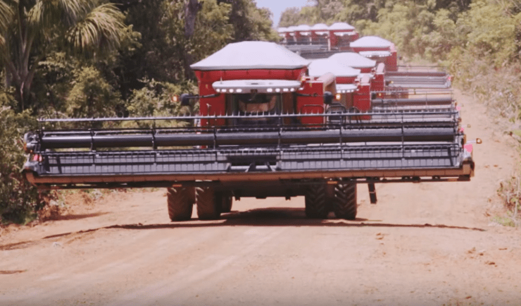 Colheita de Soja na Fazenda Boa Esperança, no Mato Grosso