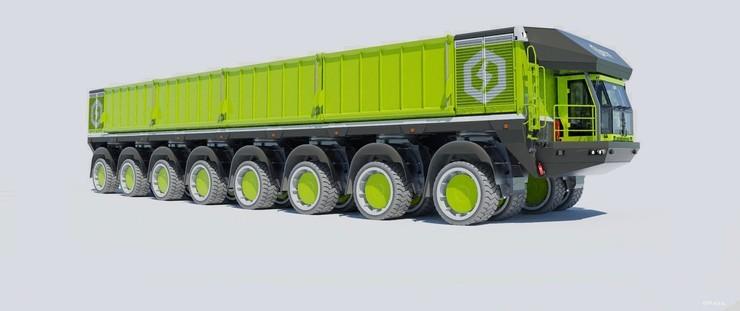 Os caminhões elétricos gigantes da ETF