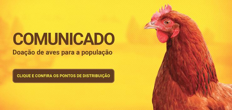 Empresa faz doação de galinhas por conta da greve