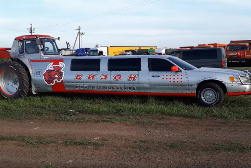 O Trator Limousine feito na Rússia