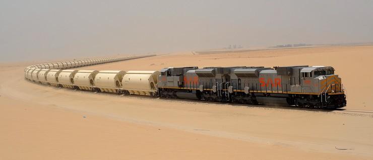 O fantástico trem do fosfato na Arábia Saudita