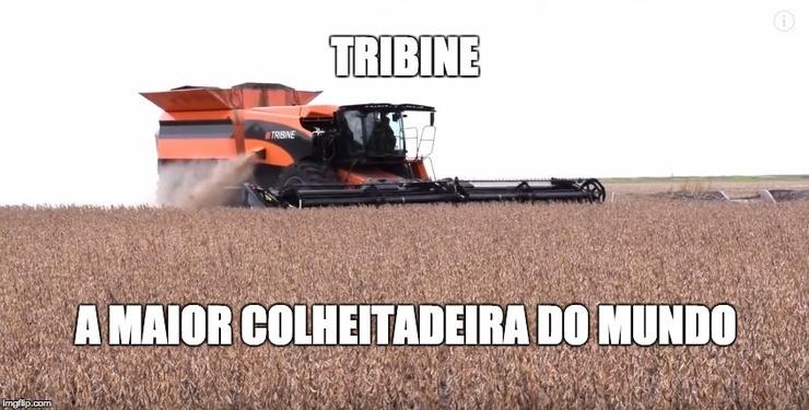 TRIBINE – A colheitadeira articulada feita em casa