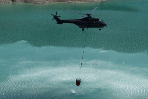 Seca na Suíça faz governo transportar água em helicópteros para as vacas nos alpes