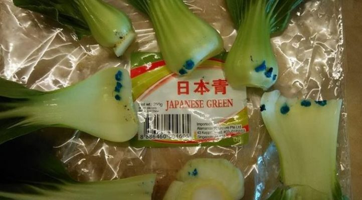 hortaliças com manchas