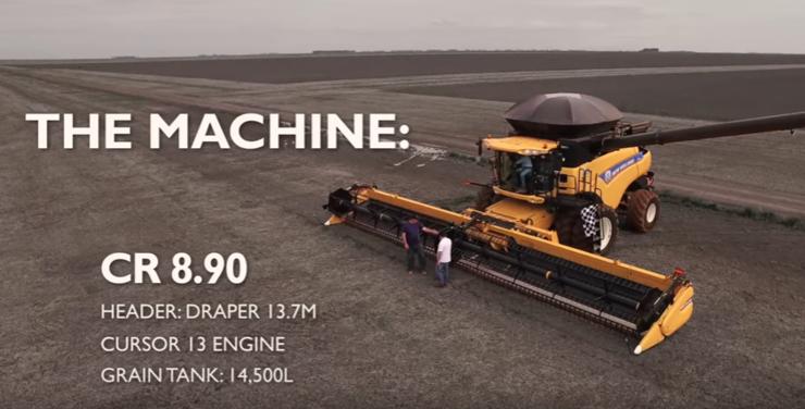Recorde mundial em colheita de soja