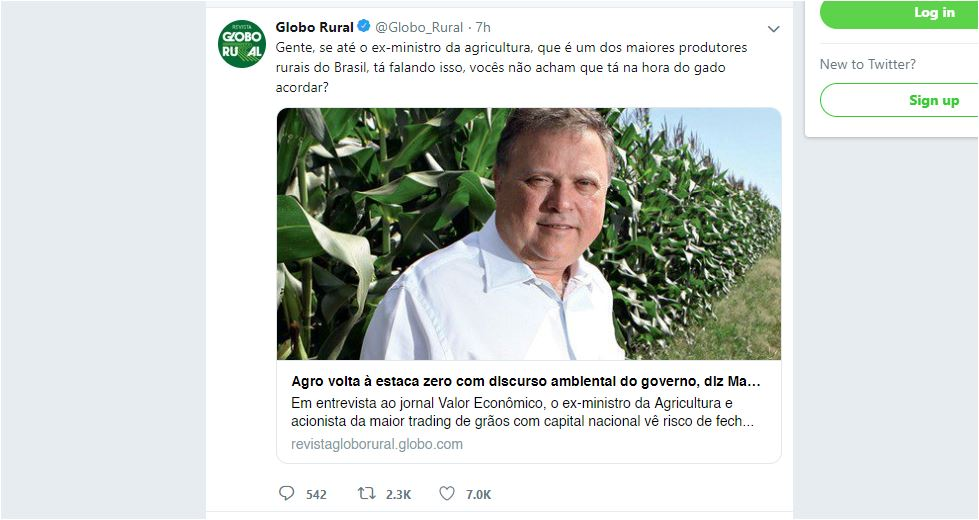 twitter do globo rural