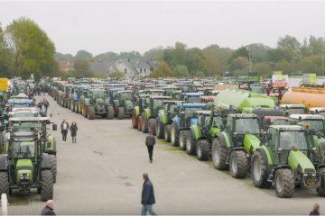 agricultores protestam