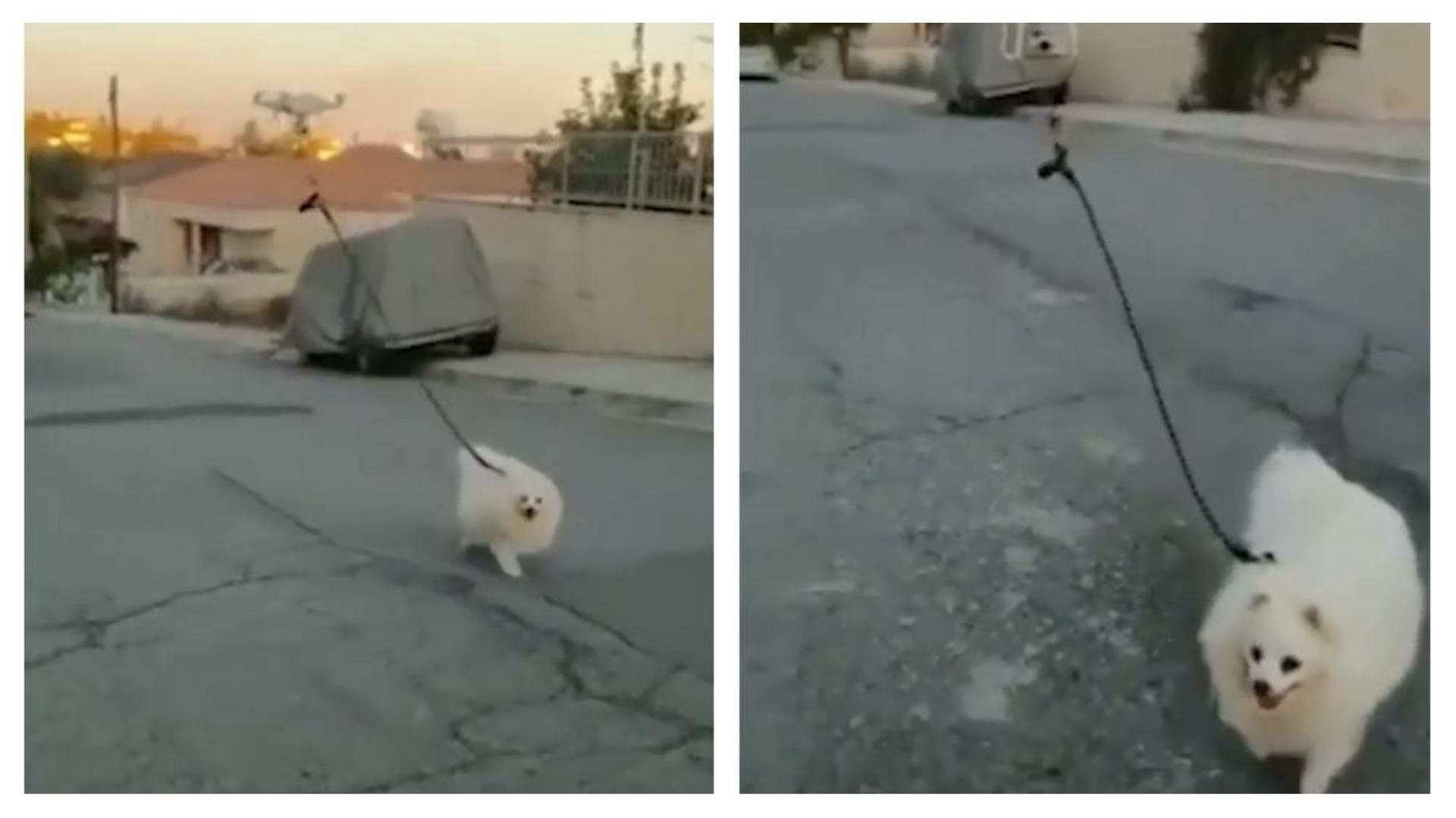homem usa drone